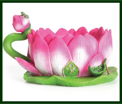 Fairy Garden  Lotus Teacup Planter - Fairy Garden Fun