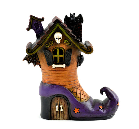 Fairy Garden  Halloween LED LIGHTED Witch Boot Shoe House MW0034 - Fairy Garden Fun