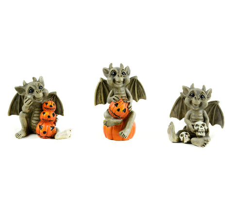 Fairy Garden  Halloween Gargoyle  Set of 3 MW691 - Fairy Garden Fun