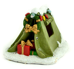 Fairy Garden  Christmas Green Camping Tent LED Lighted - Fairy Garden Fun