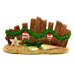 Fairy Garden  Beach Christmas Wood Fence - Fairy Garden Fun
