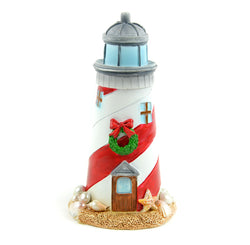 Fairy Garden  Beach Christmas Lighthouse - Fairy Garden Fun