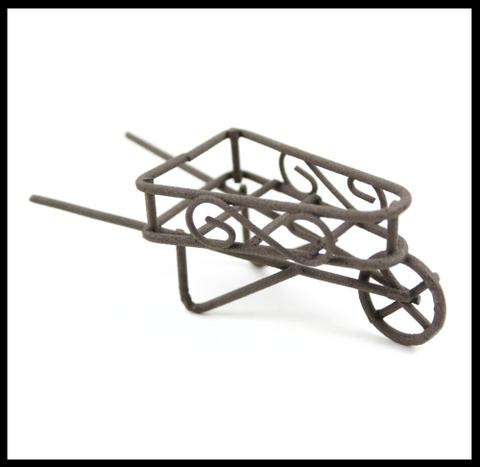 Micro Mini Wheelbarrow - Rustic