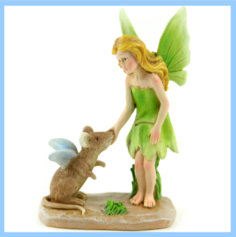 Fairy Garden  Fairy With Mouse - Fairy Garden Fun
