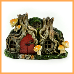 Tree Stump LED Lighted  Fairy House