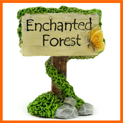 Fairy Garden  Enchanted Forest  Sign - Fairy Garden Fun