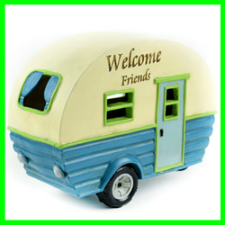 Fairy Garden  Camper ~ Welcome Friends LED Lighted - Fairy Garden Fun