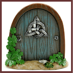 Fairy Garden  Celtic Garden Door - Fairy Garden Fun