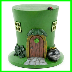 Leprechaun Hat House ~ LED Lighted