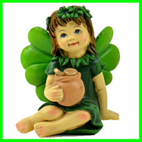 Irish Leprechaun Fairy Girl With Pot Of Gold