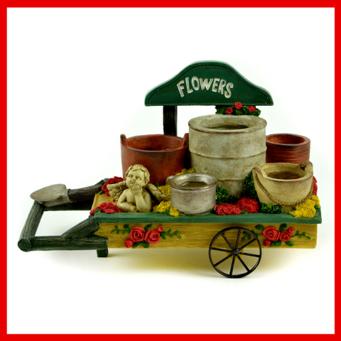 Fairy Garden  Flower Wheelbarrow Container - Fairy Garden Fun