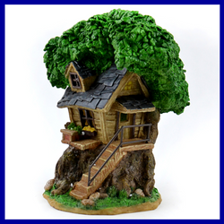Tree House SOLAR Lighted  Fairy House