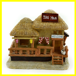 LED Lighted Tiki Hut Fairy House
