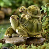Fairy Garden  Animal Sentiment Turtle Tortoise Parent & Baby - Fairy Garden Fun