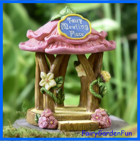 Fairy Garden  Fairy Tale Meeting Place Gazebo 292 - Fairy Garden Fun