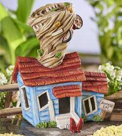 Fairy Garden  Wizard of Oz Auntie Ems Tornado House - Fairy Garden Fun