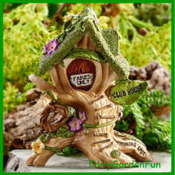 Fairy Garden  Wee Fairies Club House - Fairy Garden Fun