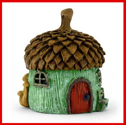 Fairy Garden  Itty Bitty Acorn Micro Fairy House GRN - Fairy Garden Fun
