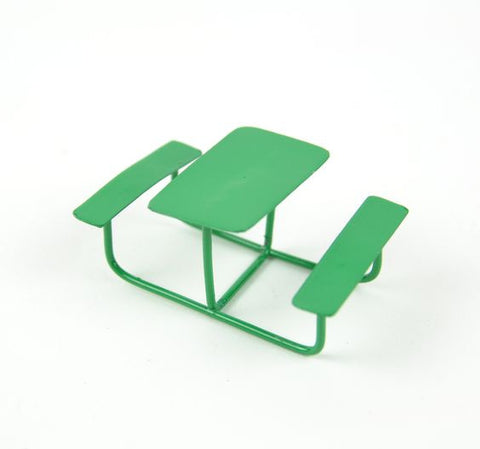 Fairy Garden  Micro Mini Green Picnic Table - Fairy Garden Fun