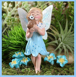 Fairy Garden  Athena The Fairy & Her Pet Owl 571 - Fairy Garden Fun