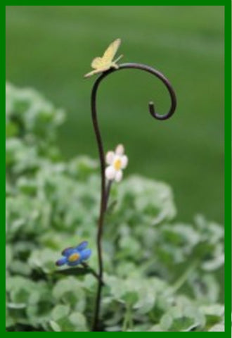 Fairy Garden  Bloomin Flowers Shepherd Hook - Fairy Garden Fun