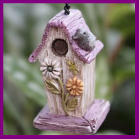 Fairy Garden  Daisy Bird House - Fairy Garden Fun