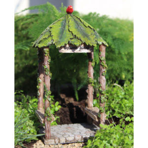 Fairy Garden  Fairy Leaf Gazebo 1652 - Fairy Garden Fun