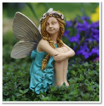 Fairy Garden  Fairy Hanna With A Floral Headband 0133 - Fairy Garden Fun