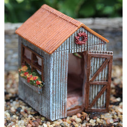 Fairy Garden  Itty Bitty Fairy Flower House Shed 1205 - Fairy Garden Fun