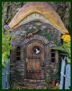 Fairy Garden  Kitten's Corner  Hinged Fairy Door W1305 - Fairy Garden Fun