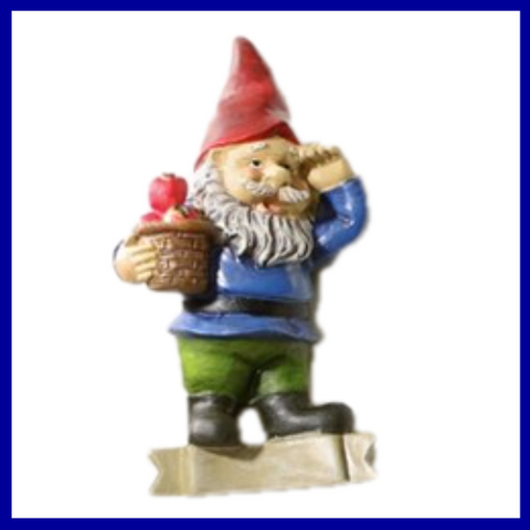 Fairy Garden  Refrigerator Magnet ~  Gnome with Apples ~ Gift Boxed - Fairy Garden Fun