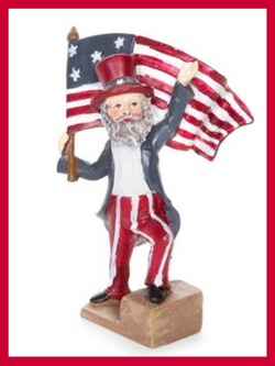 Fairy Garden  Uncle Sam Fourth of July Figurine (Waving) - Fairy Garden Fun