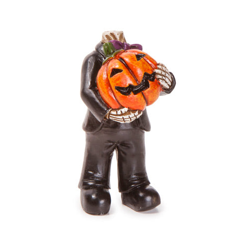 Fairy Garden  Headless Pumpkin Figurine - Fairy Garden Fun