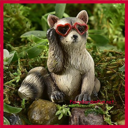 Fairy Garden  Animal Sentiment Cool Raccoon In Sunglasses - Fairy Garden Fun