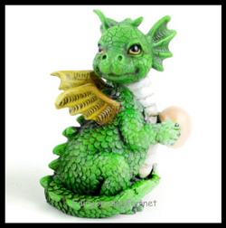 Fairy Garden  Baby Dragon Green - Fairy Garden Fun