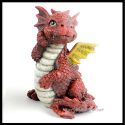 Fairy Garden  Baby Dragon Red - Fairy Garden Fun