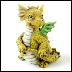 Fairy Garden  Baby Dragon Yellow - Fairy Garden Fun