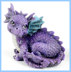 Fairy Garden  Baby Dragon Purple - Fairy Garden Fun