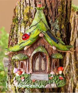 Fairy Garden  Copy of Solar House Facade - Fairy Garden Fun