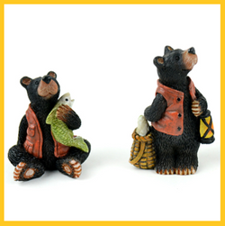 Fairy Garden  Fishing Bears - Fairy Garden Fun
