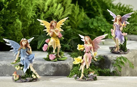 Fairy Garden  Flower Bloom Fairies 618 - Fairy Garden Fun