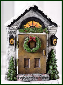 Fairy Garden  Christmas Fairy Door Steeple Lamps GC969 - Fairy Garden Fun
