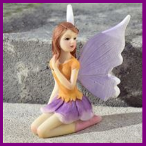 Fairy Garden  Fairy Girl In Orange and Purple 615 - Fairy Garden Fun