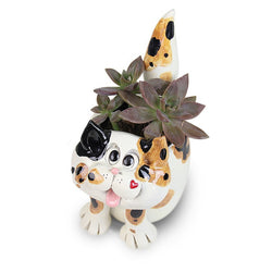 "Fairy Garden  Cat Planter 5"" ~ Pence - Fairy Garden Fun"