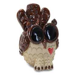"Fairy Garden  Owl Planter 6.5"" ~ Pence - Fairy Garden Fun"