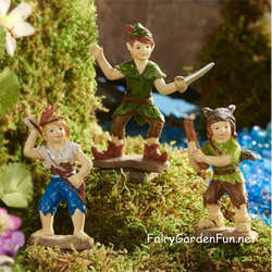 Fairy Garden  Peter Pan Neverland Pan & His Fighters Lost Boys - Fairy Garden Fun