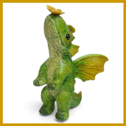 "Fairy Garden  Dragon With Butterfly ""Soft Landing"" - Fairy Garden Fun"