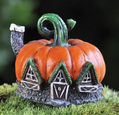 Fairy Garden  Micro Pumpkin Fairy House 343 - Fairy Garden Fun