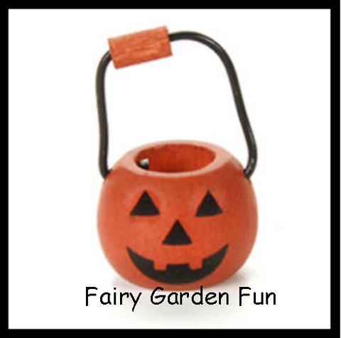 Fairy Garden  Halloween Pumpkin Basket - Fairy Garden Fun