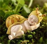 Fairy Garden  Baby Flower Fairy Animals Sleeping - Fairy Garden Fun